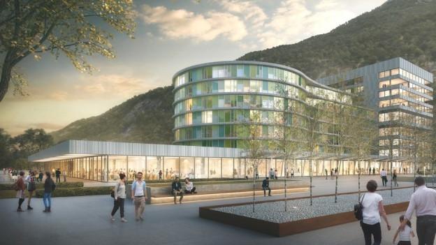 Das Projekt «United» des Berner Architekturbüros Burckhardt und Partner AG hat den Wettbewerb gewonnen.