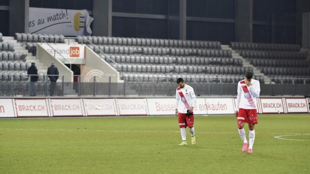 Damals spielte Biel noch in der Challenge League: Der FC Biel im Februar nach einem Spiel gegen Chiasso.