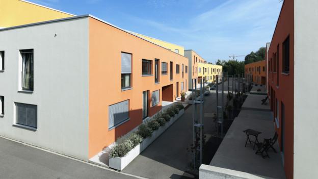 Wohnüberbauungen wie hier diejenige im Quartier Neumatt/Weissenstein bringen Köniz Lob für die Ortsplanung ein.