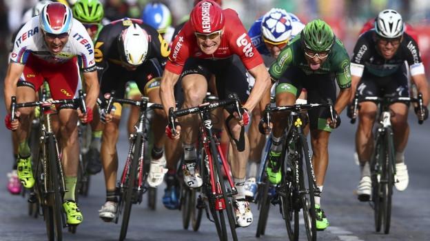 Fahrradfahrer der Tour de France.