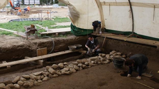 Unter Gemüsetunneln wurde die römische Villa freigelegt.