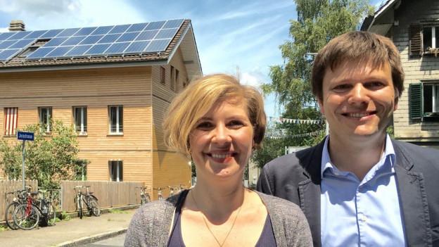 Die beiden Initianten Melanie Mettler und Matthias Egli.
