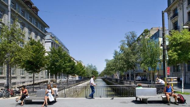 Die Bieler Innenstadt.