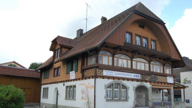 Der Bahnhof in Schwarzenburg.