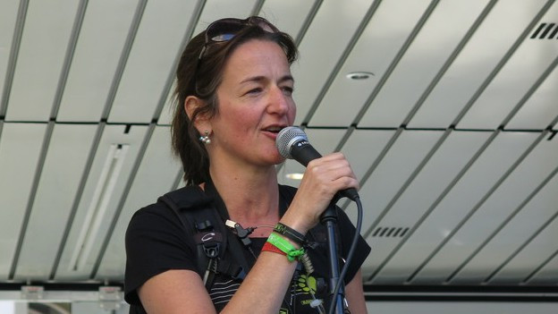 Die Buskers-Chefin Christine Wyss.