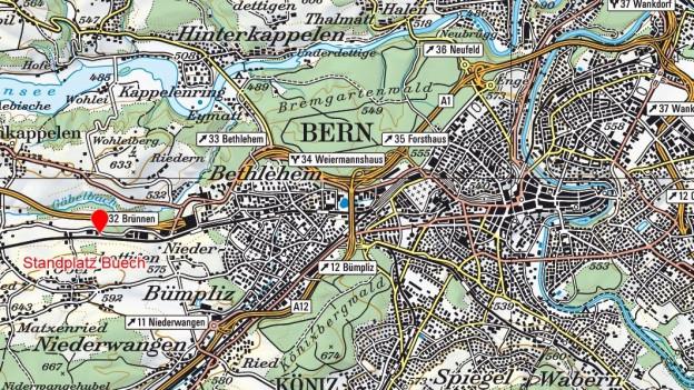Der Standplatz Buech im Westen von Bern.