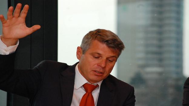 Christoph Ammann (SP) betont in seiner Bilanz die Wichtigkeit von Bern als Medizinstandort für den ganzen Kanton.