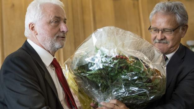 Erwin Jutzet (links) und Beat Vonlanthen