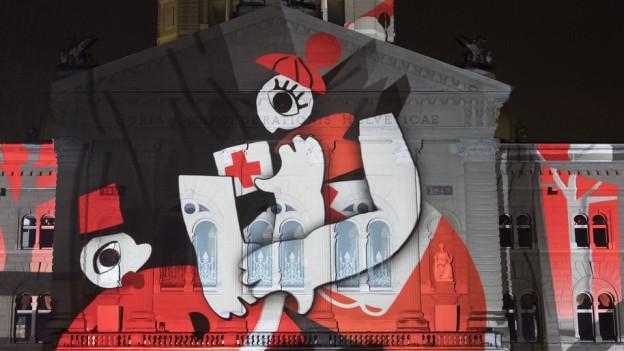 Das «Rendez-vous Bundesplatz» ist dem Schweizerischen Roten Kreuz gewidmet.