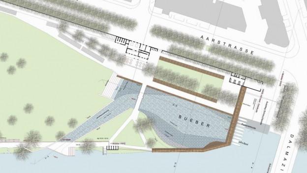 Der neue Bueber – wie er fangs in den Plänen der Stadt Bern existiert.