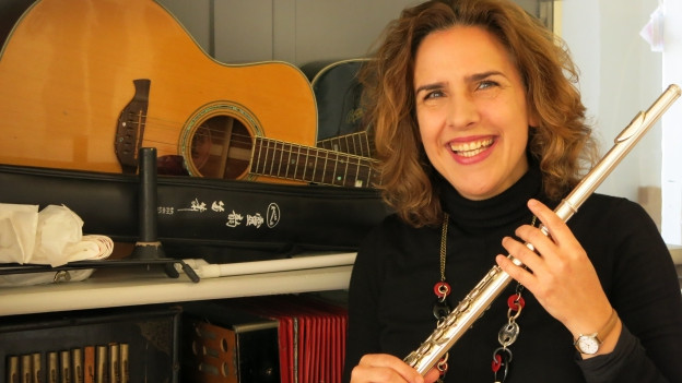 Musikvermittlerin Barbara Balba Weber experimentiert gerne.