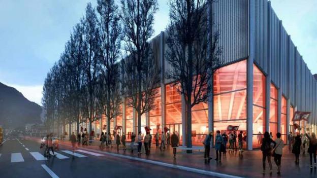 So soll die neue Eissport- und Eventhalle dereinst aussehen.
