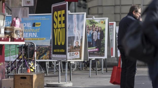 Plakatständer in der Innenstadt