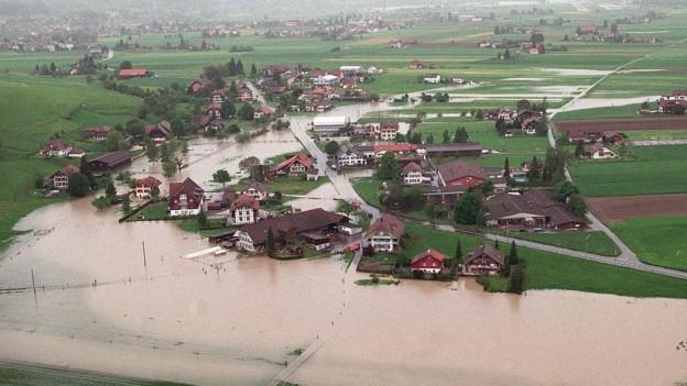 Hochwasser wie das im Frühling 1999 hatten die Schwachstellen des laufenden Hochwasserschutzes aufgezeigt.