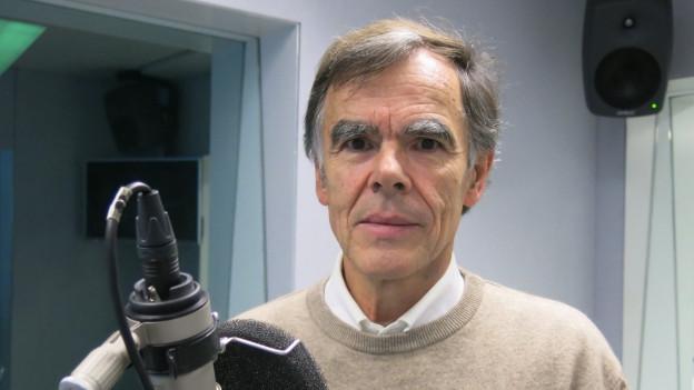 Christoph Marti im Radiostudio Bern