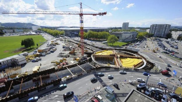 Ohne Bundesgeld aus dem NAF hätte der Kanton Bern den Wankdorfkreisel nicht bauen können.