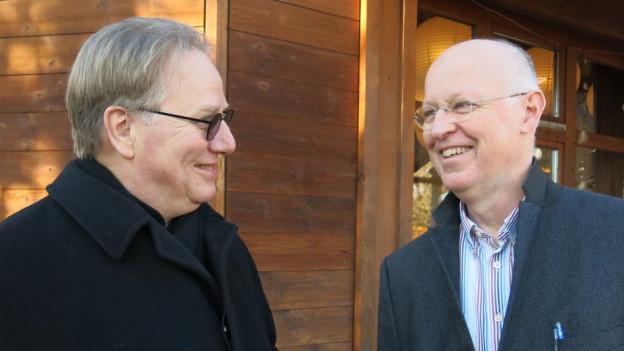 Bart van Doorn (l.) und Karel Boeschoten haben schon Ideen für Neues.