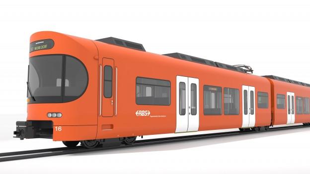 Zu sehen ist ein Modell des neuen RBS-Zuges.