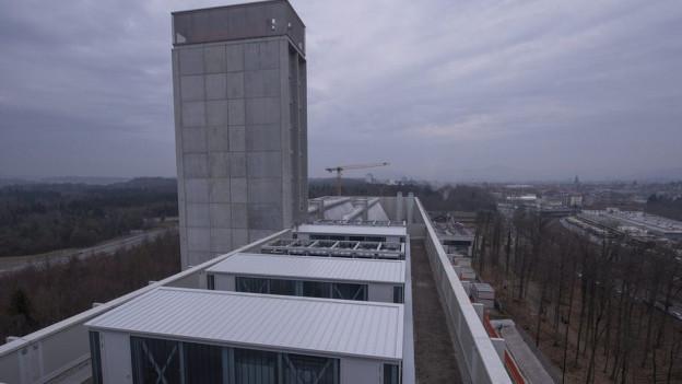 Die Energiezentrale im Forsthaus.