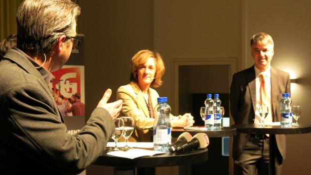 Die Kandidatin und der Kandidat für das Stadtpräsidentenamt: Ursula Wyss und Alec von Graffenried (rechts)