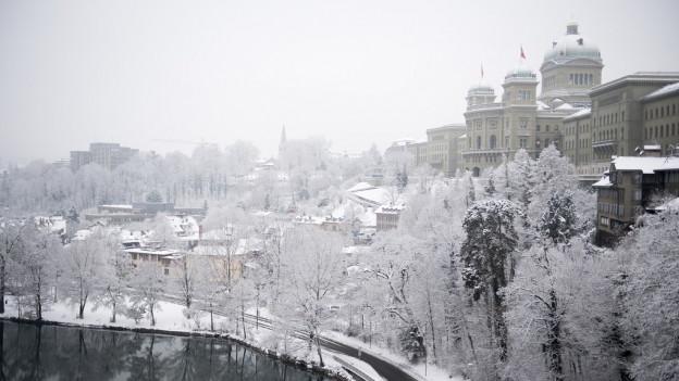 Seit Tagen ist in Bern tiefster Winter.