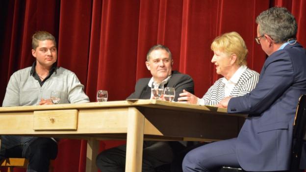 Kochen ist Leidenschaft und Verantwortung: (von links) Mirko Buri, Werner Rothen, Annemarie Wildeisen, rechts Gastgeber Peter Brandenberger.