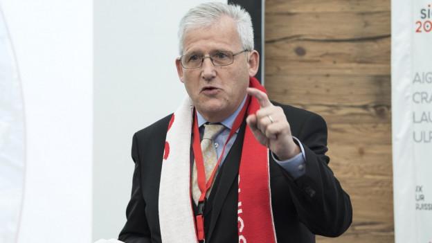 Hans Stöckli, Vizepraesident des Komitees Sion 2026