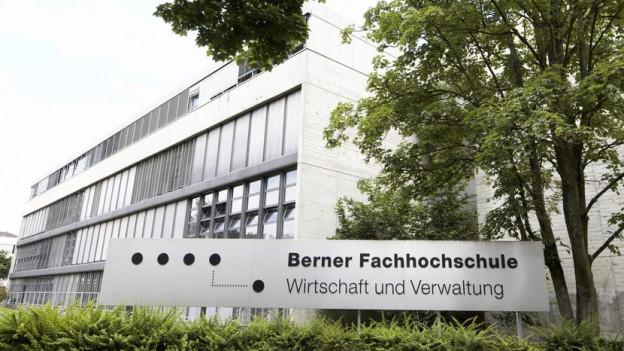 Gebäude des Fachbereichs Wirtschaft der Berner Fachhochschule in Bern.