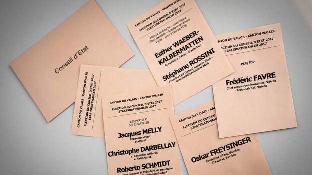 Einige haben dieses Wahlmaterial nicht erhalten und trotzdem gewählt: Die Listen für den zweiten Wahlgang.