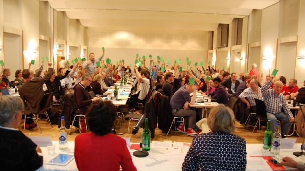 Mitgliederversammlung SP, Abstimmung