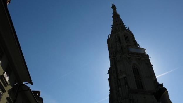 Weniger Geläut – auch im Münsterturm.