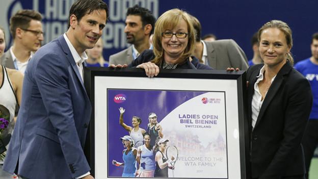 Alle zufrieden nach dem WTA-Tournier in Biel.