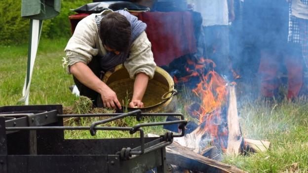 Am Keltenfestival wird auch altes Handwerk gezeigt.