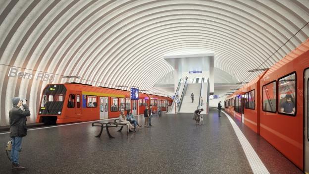 So soll der neue RBS-Tiefbahnhof aussehen.