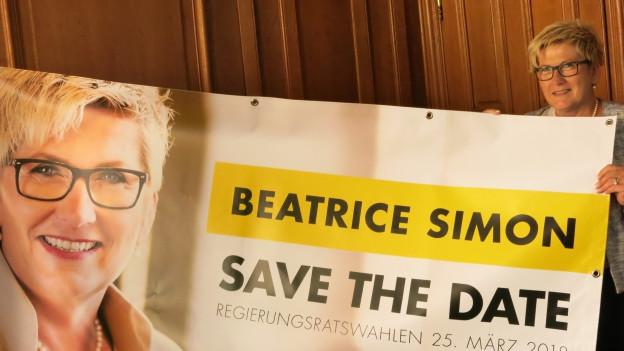 Beatrice Simon kandidiert erneut - aus Spass an der Arbeit.