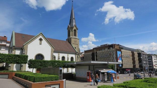 Ansicht der reformierten Kirche in Freiburg.