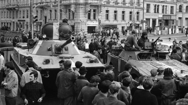 Einmarsch russischer Truppen in Prag.
