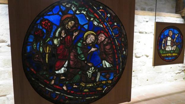 Das Glasmuseum in Romont konserviert auch Kirchenfenster.