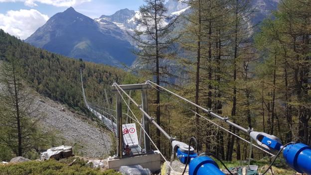 Die längste Hängebrücke der Welt im Mattertal