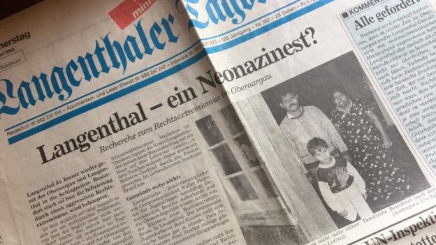 Langenthal gerät 1987 verstärkt in den medialen Fokus in der Schweiz.