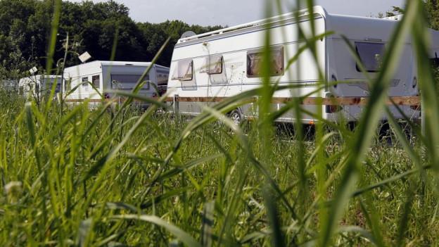 Rund 36 Wohnwagen waren in Vechigen parkiert.