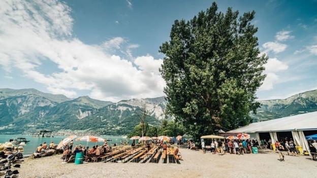 Im Vergleich zu anderen Festivals ist das Brienzersee Rockfestivals klein und überschaubar