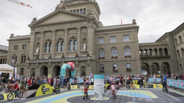 Der Bundesplatz - Herzstück des neuen Velofestivals