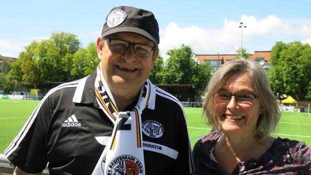 Max Haller und Liliane Hunziker Jaussi sind leidenschaftliche Fussballfans.
