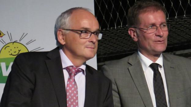 Pierre Alain Schnegg und Christoph Neuhaus wurden per Akklamation für die Regierungsratswahlen nominiert.