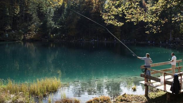 Angler am Blausee