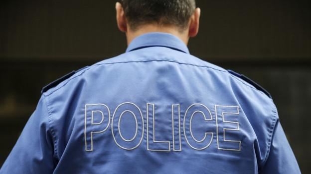 Polizist von hinten (Symbolbild)