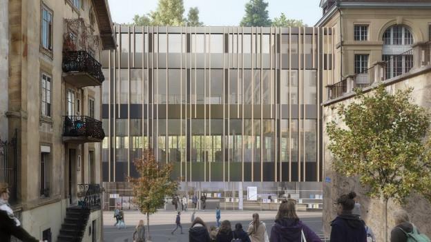 So soll die neue Bibliothek dereinst aussehen.