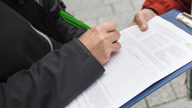 Unterschriftenbogen