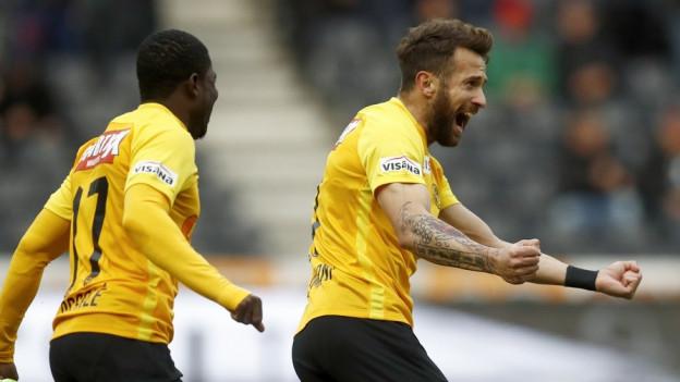 Beim 5:1 gegen den FC Sion hatte YB viel Spass.